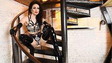 Goddess and latex slave
